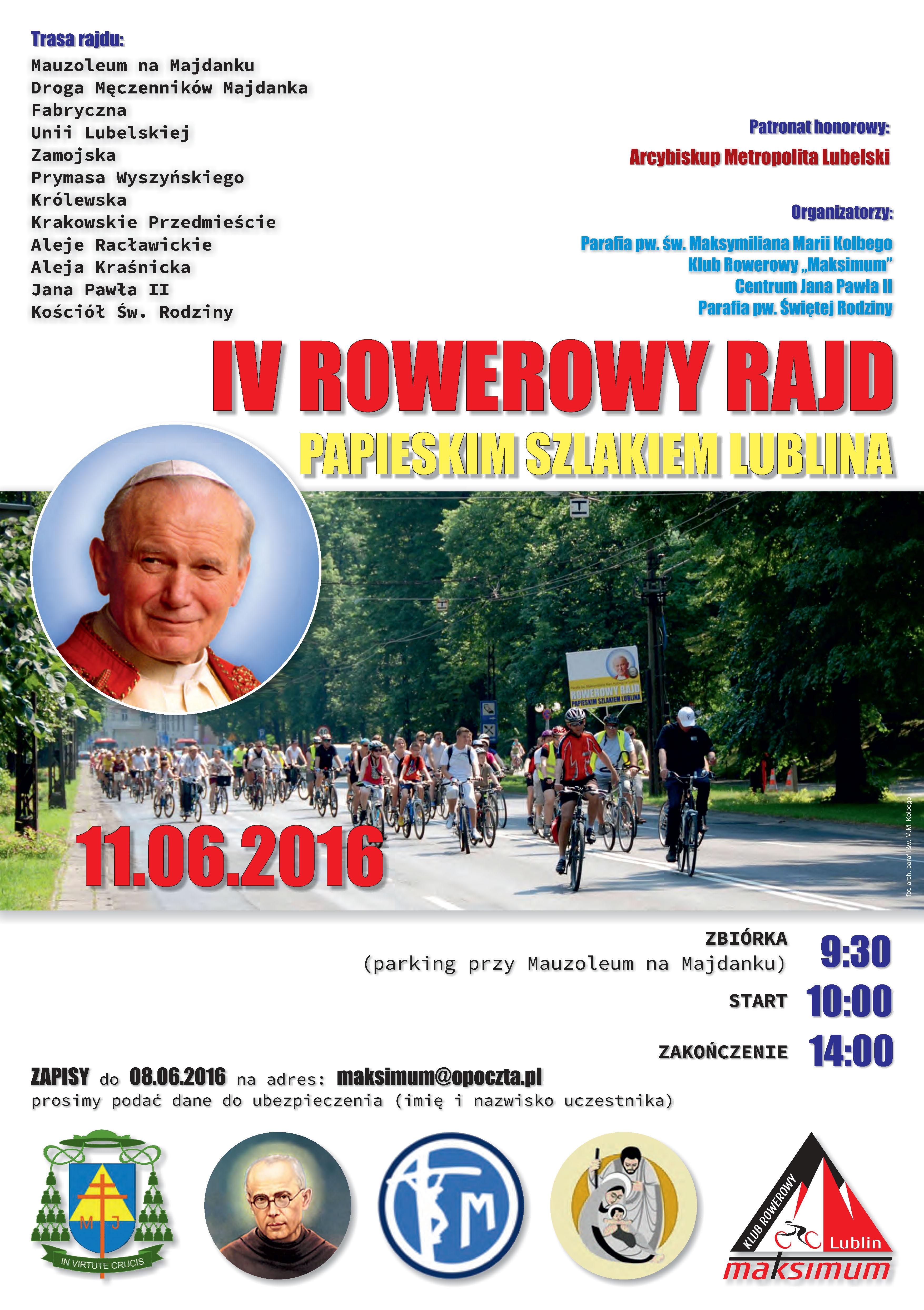 IV Rowerowy Rajd Papieskim Szlakiem Lublina