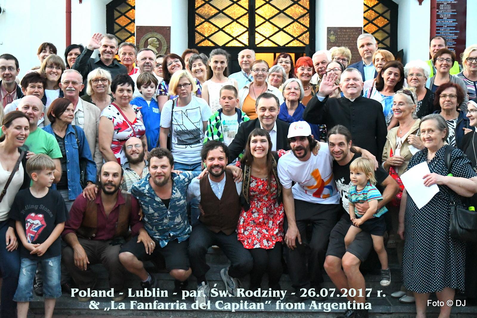 Poland - Lublin - par. Sw. Rodziny - 26.07.2017 r. and La Fanfarria del Capitan