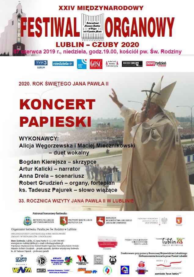Fotorelacje z Koncertu Papieskiego 07.06.2020 r.