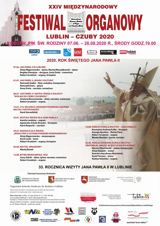 XXIV Międzynarodowy Festiwal Organowy Lublin-Czuby 2020