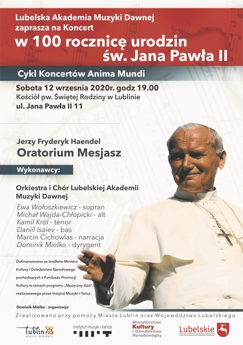 12.09.2020 r. Jerzy Fryderyk Haendel - Oratorium Mesjasz