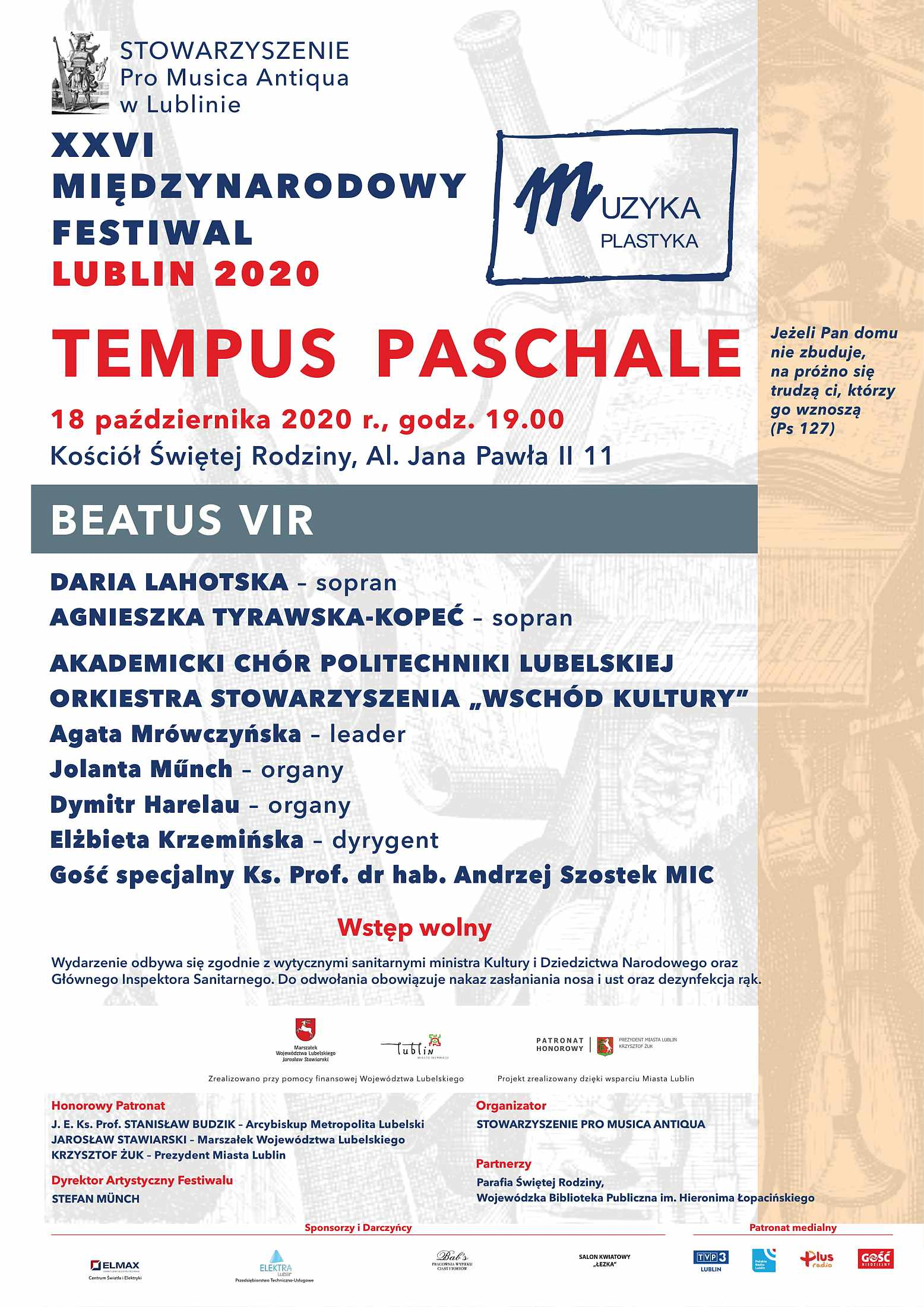 Koncert Tempus Paschale - Beatus Vir - 18.10.2020 r.